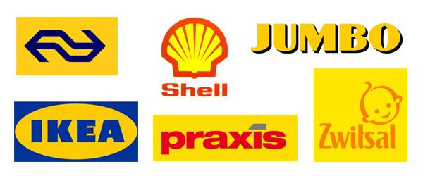 Gele logo's