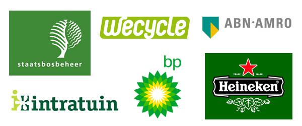 Groene logo's