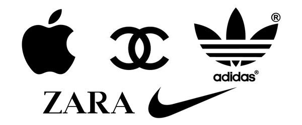 Zwarte logo's